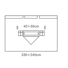 Нетканый простой в использовании вертикальный хирургический простынь