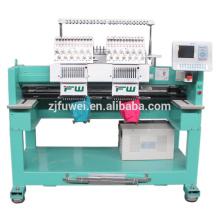 FUWEI 2 Köpfe computergesteuerte Stickmaschine zum Verkauf 1502 Hochgeschwindigkeitsstickmaschine