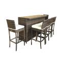 Outdoor Wicker High Dining Bar Stool Furniture