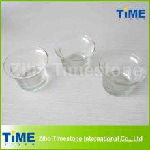 Bougeoirs en verre transparents en forme ronde