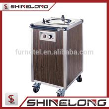 K296 en acier inoxydable électrique 1 chauffe-plaque chauffe-plat