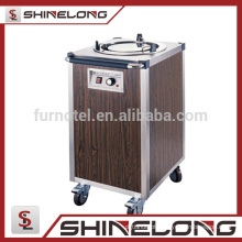 K296 Stainless Steel Electric 1 Holder Cart Plate Heatmer