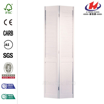 Half Louver Primed Pine Folding Door