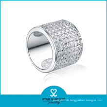 Personalisierte Silber Schmuck Jacke Gehäuse Ring für Mann (SH-R0047)