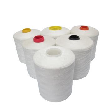 raw white paper cone 403 polyester raw white thread