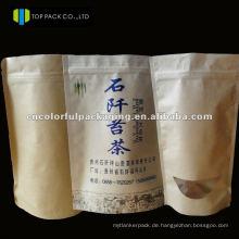 Drucken Doypack Kraftpapier / Al / PE Verpackung Beutel für Kaffee oder andere