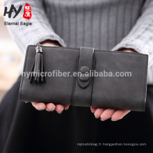 Grind arenaceous long PU leather wallet wholesale