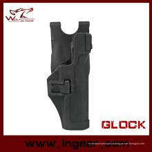 Coldre tático de CQC Paddle Rh pistola Glock 17/22/31 com Xiphos luz negra