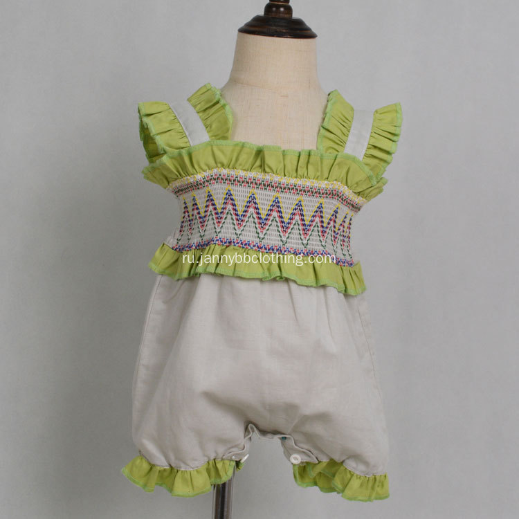 OEM service High Quality Baby Girl Smocked Rompers