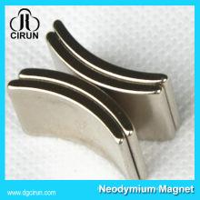 Générateur de moteur d'aimant de néodyme de forme d'arc fait sur commande / aimant néodyme