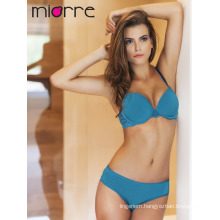 Miorre Sexy Gasoline Color Women Lingerie Push-Up Bra and Panty Set