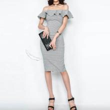 Тонкие клубные вечерние платья с открытыми плечами и оборками для женщин