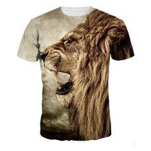 Пляжная футболка с принтом льва