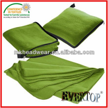 Wholesale 100% polyester Plain Fleece Blanket Pillow With Zipper