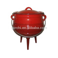 Vegetable Oil cast iron camping cookware Three legs Cast Iron Pots
