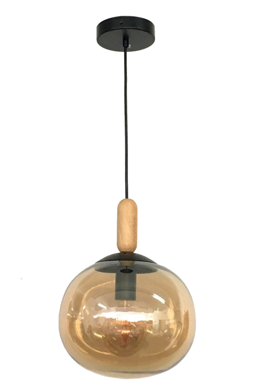 Amber Glass Ceiling Lamps