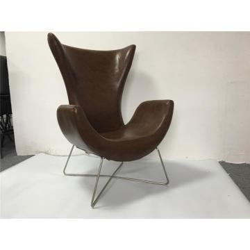 modern design high-back sofa chair with metal legs cheap microfiber