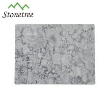Tábua de cortar mármore retangular branca