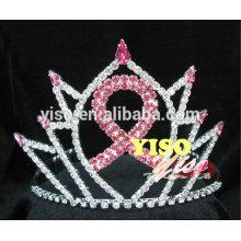 fashion hair jewelry crystal ribbon pageant tiara
