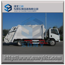 8 M3 4X2 Garbage Truck Isuzu Refuse Compactor Truck