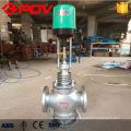 Válvula de control de presión de flujo de vapor eléctrico de 3 vías de control eléctrico