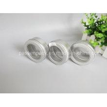 150g Aluminium Kosmetik Wachs Verpackung Glas mit Fensterdeckel (PPC-ATC-083)