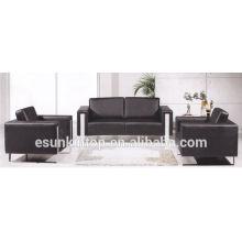 KS3109 Muebles modernos sofás de oficina piernas de acero inoxidable sofás