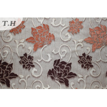 Цветок полиэстер синель диван ткань (fth31951)