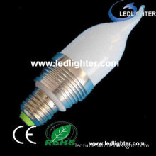3w Dimmable E27 6000 - 6500k White Led Candle Light Bulbs With 3years Warranty