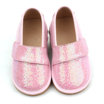 Kinderen Fancy Pink Colors Toddler Glitter piepende schoenen