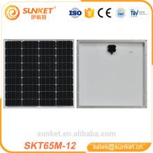 Precio más barato 65 w mono panel solar pv para el mercado de la india