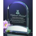 Trophée en verre de cristal populaire de conception adaptée aux besoins du client pour des cadeaux promotionnels