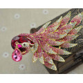 Broche del pavo real del oro del Rhinestone plateado oro de la moda