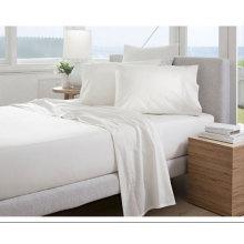 Conjunto de lençóis de algodão de coleção do Hotel Plain (DPFF8021)