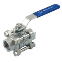Шаровой клапан 3PC с резьбой из нержавеющей стали