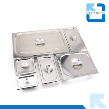 1/1, 1/2, 1/3, 1/4, 1/6, 1/9 en acier inoxydable Gastronorm Food Pan Food Container