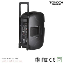 Factory Supply 10 Inches Plastic Trolley Outdoor Speaker with Battery