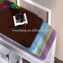 Tapete de banho de algodão do hotel espuma de memória banheiro do hotel anti-slip usado bathmat