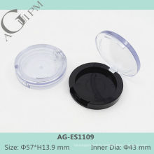 Transparent couvercle une grille ronde ombre à paupières cas AG-ES1109, AGPM empaquetage cosmétique, couleurs/Logo personnalisé