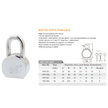 High Secured Round Steel Padlock Can Be Customize