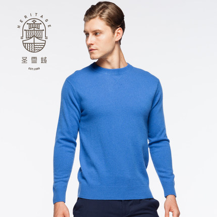 Mäns Cashmere Crew Neck Sweater