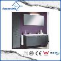 Combinaison de toilette de salle de bain avec 2 tiroirs en fini noir (ACF8931)