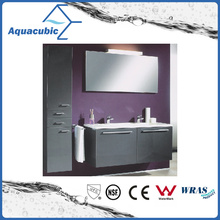 Bathroom Vanity Combo with 2 Drawers in Black Finish (ACF8931)