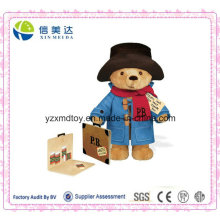 UK Hot Selling Paperboard Suitcase Plush Paddington Bear Stuffed Toy