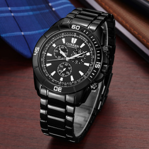 curren business men watch multi function quartz japan movt
