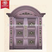 Radius Design Porte principale Porte de porte en bronze à double feuille, commerciale ou résidentielle