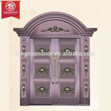 Radius Design Portão principal Porta de porta de bronze de duas folhas, comercial ou residencial