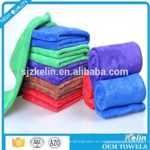 teñido llano de secado rápido microfibra toalla de lavado de coches