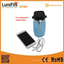 3193 lanterna acampamento solar ao ar livre do diodo emissor de luz com carga do USB