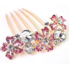 Geometrical Petals Colorful Zinc Alloy Hair Comb Ornaments